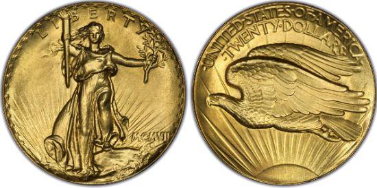 引用:ゴールドコイン 20ドル セントゴーデンズ金貨 1907 エクストラハイリリーフ レタードエッジ